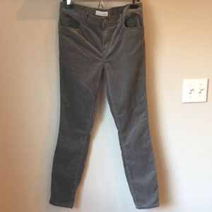 LOFT Modern Skinny Grey Cords Size 4